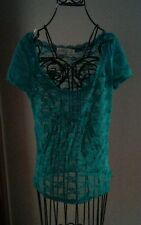 Dream Out Loud by Selena Gomez, Green Lacy Top, Size Large