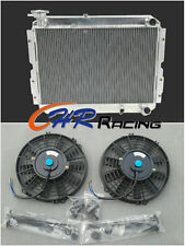 3 ROW ALUMINUM RADIATOR & FANS for TOYOTA LAND CRUISER 60 Series HJ60 HJ61 HJ62