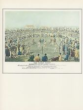 "1974 Vintage BOXING ""BROOME versus HANNAN (NEW RULES OF 1838)"" Art Lithograph"