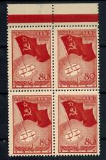80 kop. Thick Paper from North Pole Set, Block of 4, MNH, VF, Soviet Russia,1937