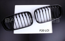 NEW MATT BLACK FRONT KIDNEY GRILLS  BMW F20 F21 LCI 1 SERIES 114d 116i 118d M135