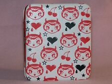 Devil Girl Wallet fluff rockabilly goth rockabilly hearts stars cherries pin-up