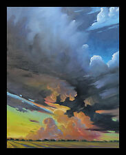 Art Painting Impressionism Large Plein Air Tonalist  Hawkins Glorious Clouds Oil
