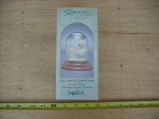 New Enesco Precious Moments God Loveth A Cheerful Giver Pewter Figure W/Dome