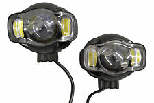 Super Bright 20W LED Spotlights for Adventure Tourer Motorcycle Motorbike PAIR