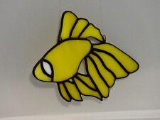 """Tiffany Glas,Fensterbild ,Fensterschmuck , Deko """"Fisch gelb"""" ,handgefertigt,Neu"""