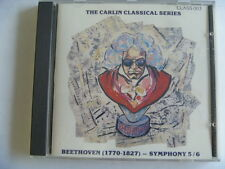 BEETHOVEN SYMPHONY 5 /6 CARLIN RARE LIBRARY SOUNDS MUSIC CD