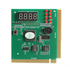 4-Digit LCD Display PC Analyzer Diagnostic Card Motherboard Post Tester ISA PCI