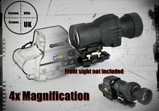 4x magnifier with push button flip to side mount, for 551 552 553 and 557