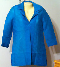 Chicos Travelers Collection Shirt Jacket Size 0 XS 4-6 Cozumel Blue Textured NWT