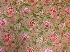 Schumacher- Upholstery/Drapery Fabric- Bandhura Indienne/Fawn (1282002)- 2.60 yd
