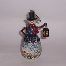Jim Shore Heartwood Creek - Snowman with Lantern Hanging Ornament 4027751