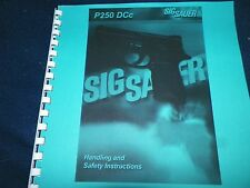 SIG SAUER ARMS, P250DCc,   OWNERS MANUAL,   28 PAGES