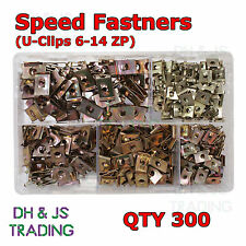 Assorted Box of Speed / Spire Fasteners U - Clips 6 - 14 ZP Qty 300