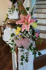 SILK LILY ROSE IVY SPRAY Wedding Flowers Bridal Bouquet Artificial Arrangement