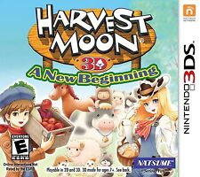 Harvest Moon 3D: A New Beginning [Nintendo 3DS, Video Game, Farm, Natsume] NEW