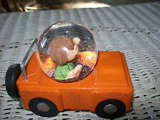 Hallmark Peanuts-9 Peppermint Patty Water Globe Car New