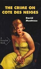 Crime on Cote Des Neiges (Ricochet), Montrose, David, New Condition