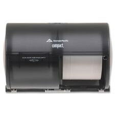 Georgia Pacific 56784 Compact Side-By-Side Two Roll Bathroom Tissue Dispenser