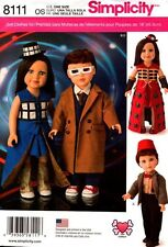 """Simplicity Pattern 8111 Dolls Clothes Doctor Who 18""""  NEW"""