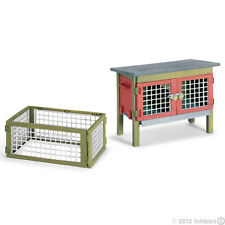 *NEW* SCHLEICH 42019 Farm Rabbit Hutch Model - Bunny Floppy