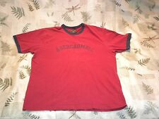 Abercrombie & Fitch Men's Short Sleeve Crewneck L Red/Blue Faded Graphic T Shirt
