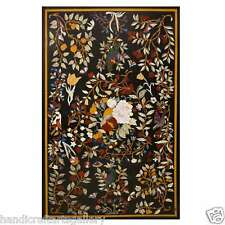 3'x6' Marble Dining Table Top Marquetry Birds Fruit Mosaic Art Handmade H616