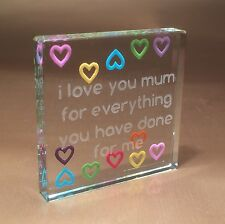 Spaceform Multi Hearts Mum Token Christmas Gift ideas for Her Mother Mom 1746