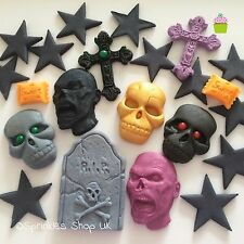 HALLOWEEN TOPPERS edible sugar paste cake decorations cupcake toppers