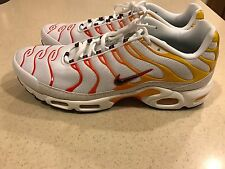 Nike Air Max Plus TN SZ 15 Sunburn White Gold Orange Tuned Retro OG 604133-132