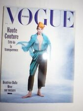 Magazine VOGUE PARIS mode French #694 mars 1989 Haute couture