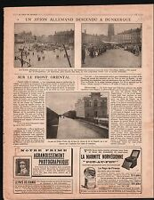 WWI Aircraft Avion Fokker E.III Grand'Place Dunkerque France 1917 ILLUSTRATION