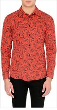 Blood Brother Red Rose �� Men's Size XS Button Down Shirt NWT $220