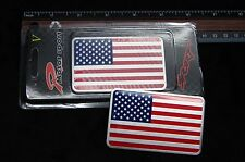 AMERICAN FLAG METAL 3D EMBLEM DECAL STICKER LOGO FOR CAR AND TRUCKS USA SELLER