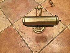 ANTIQUE SOILD BRASS PIANO / BANKERS LAMP ADJUSTABLE COST OVER 300.00 YEARS AGO