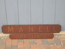 "Boat Name Plaque "" Manell - Port Clinton """