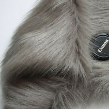 Gray, SHAGGY FAUX FUR FABRIC (LONG PILE FUR),costumes, photography backdrops BTY