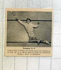 1953 Graham Bell Of Oulton Near Leeds Stretching During Badminton