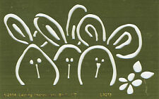 Three Bunnies - Embossing Template by Lasting Impressions