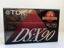 TDK DS-X 90 BLANK AUDIO CASSETTE TAPE NEW RARE 1992 YEAR USA MADE