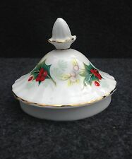 ROYAL ALBERT POINSETTIA SUGAR BOWL LID ONLY IN PRISTINE CONDITION, CHRISTMAS
