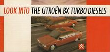 Citroen BX DTR Turbo 1988 UK Market Launch Small Format Sales Brochure
