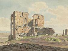 CARLO LABRUZZI ITALIAN GREAT VILLA QUINTILII APPIAN WAY ARTWORK PRINT BB5064A