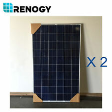 Open Box 2Pc 250 Watts 24V Renogy Poly Solar Panel Off/On Grid Fair Condition