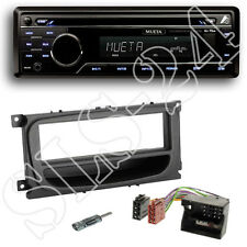 Mueta A4 CD USB SD Radio + Ford C-MAX ab 07 Blende schwarz + Quadlock Adapter