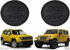 PAIR Black Jeep Trail Rated Emblems Custom Cherokee Wrangler XJ CJ New Free Ship