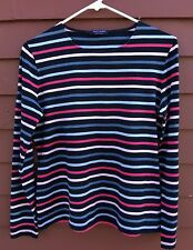 Saint James Cotton Striped Long Sleeved Shirt Tee Size 8 Made in France