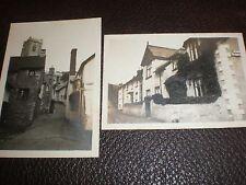 Old photos Minehead Holloway House & a church c1924