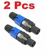 2 Pole Conductor Speaker Cable Male Connector End for SPEAKON Audio Loudspeaker