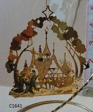 Danbury Mint Annual 1989 CHRISTMAS ANGELS Winter Gold Ornament